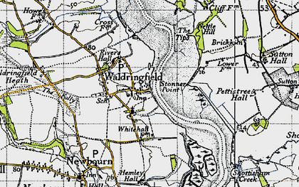 Old map of Waldringfield in 1946