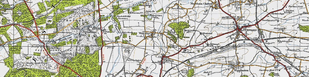 Old map of Whitewater in 1947