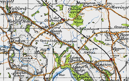 Old map of Yeaton Lodge in 1947
