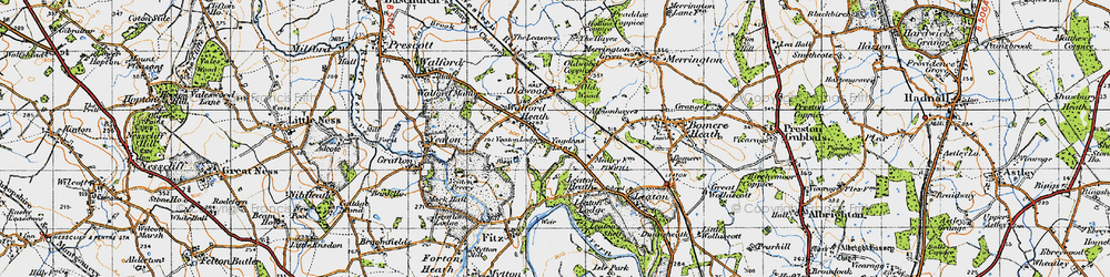 Old map of Old Woods in 1947