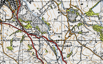 Old map of Barcroft in 1947