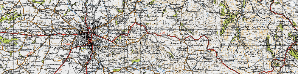 Old map of Windyway Ho in 1947