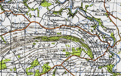 Old map of Armrydding in 1947