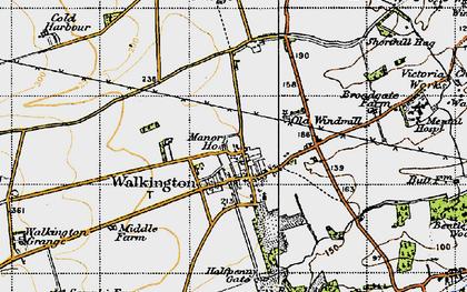 Old map of Walkington in 1947