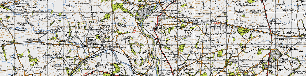 Old map of Wall in 1947