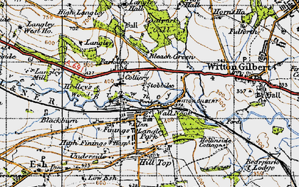 Old map of Langley Hall in 1947