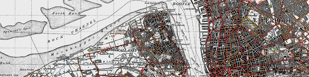 Old map of Wallasey in 1947