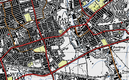 Old map of Wallend in 1946