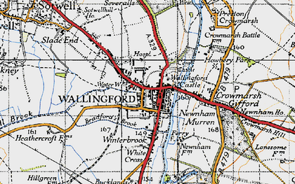 Old map of Wallingford in 1947