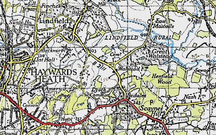 Old map of Awbrook in 1940