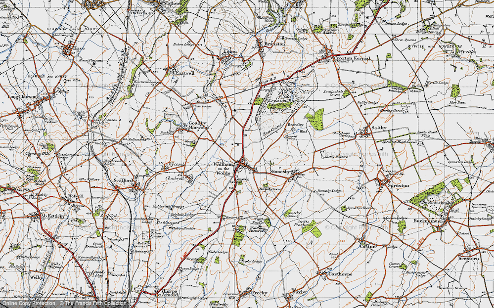Old Map of Historic Map covering Lings Covert in 1946