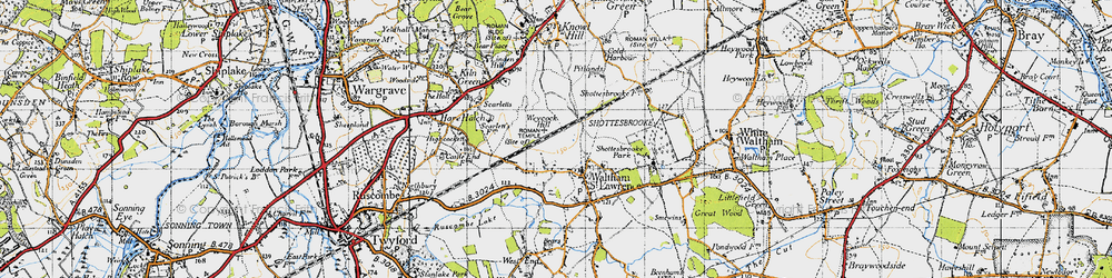 Old map of Weycock Hill in 1947