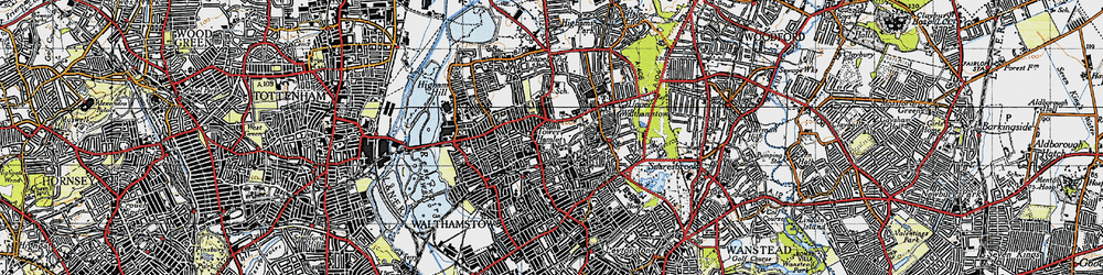 Old map of Walthamstow in 1946