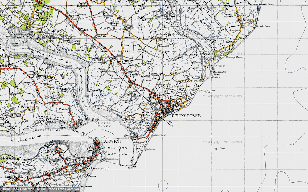 Old Map of Walton, 1946 in 1946