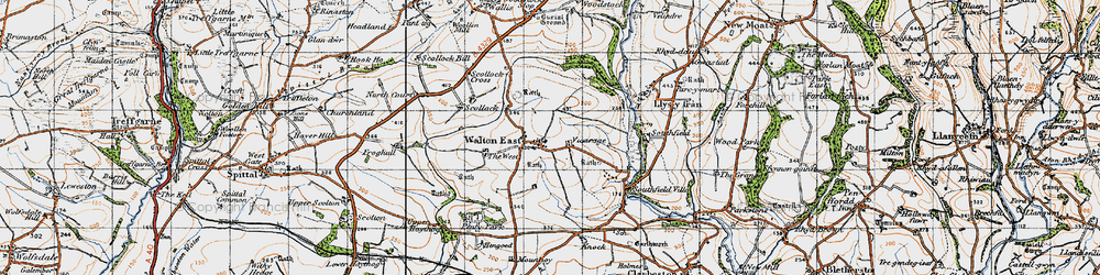 Old map of West, The in 1946