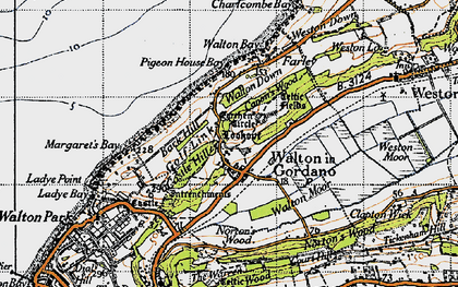 Old map of Walton in Gordano in 1946