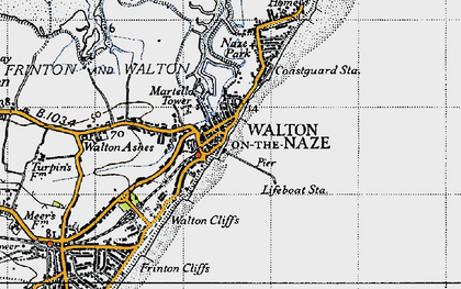 Walton On The Naze Map Walton On The Naze photos, maps, books, memories Walton On The Naze Map