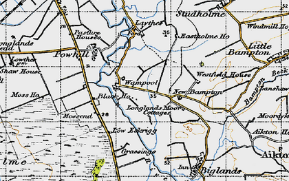 Old map of Westfield Ho in 1947