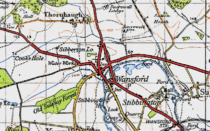 Old map of Wansford in 1946