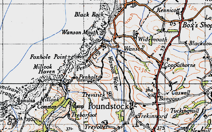 Old map of Wanson in 1946