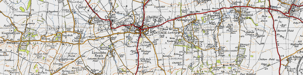 Old map of Wantage in 1947