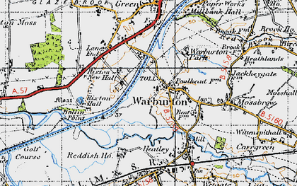Old map of Warburton in 1947