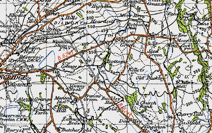 Old map of Written Stone in 1947