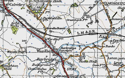 Old map of Barbridge Junction in 1947