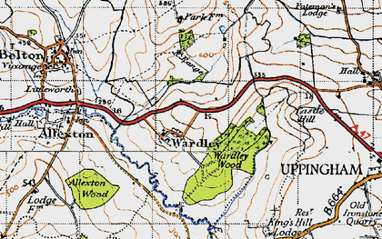 Old map of Allexton Wood in 1946