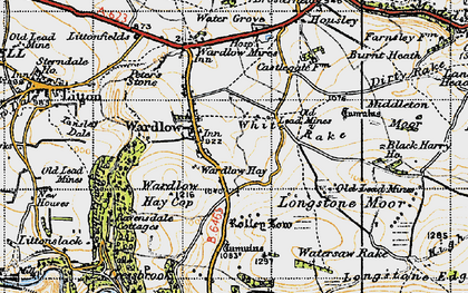 Old map of White Rake in 1947