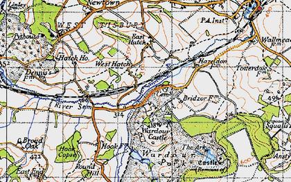 Old map of Wardour Castle in 1940