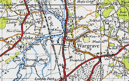Old map of Wargrave in 1947