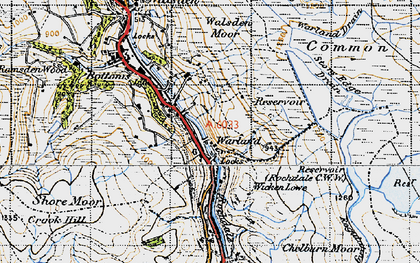 Old map of Allescholes in 1947