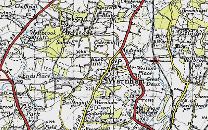Old map of Westons Place in 1940