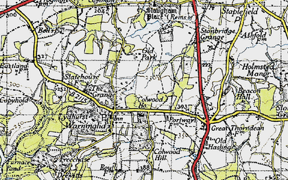 Old map of Warninglid in 1940