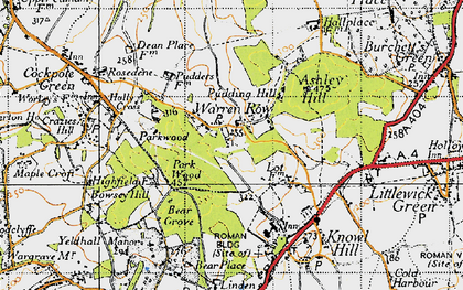 Old map of Ashley Hill Forest in 1947