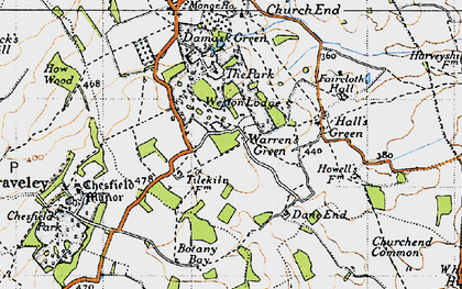 Old map of Weston Park in 1946