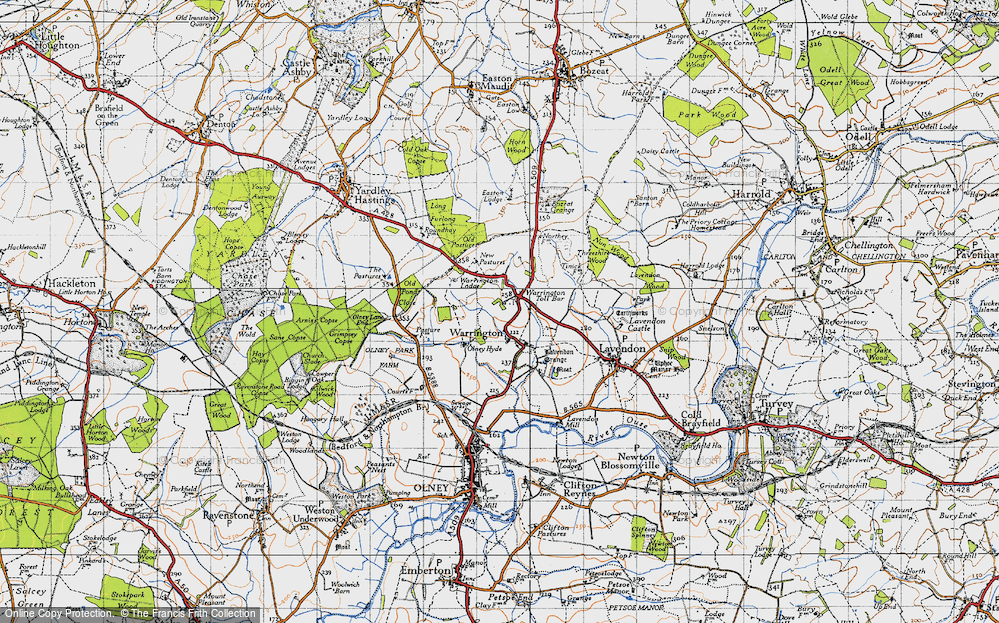 Map of Warrington, 1946 - Francis Frith