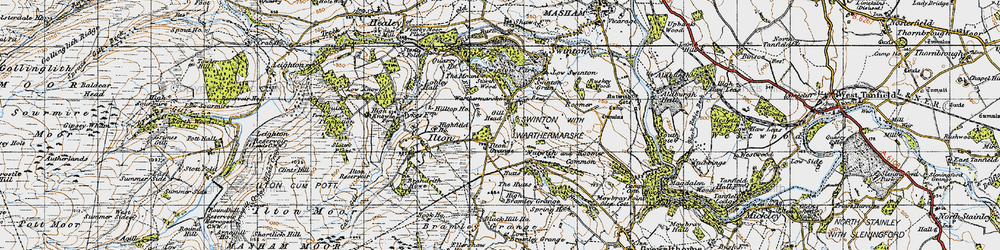 Old map of Swinton Park in 1947
