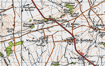 Old map of Ashleigh in 1946