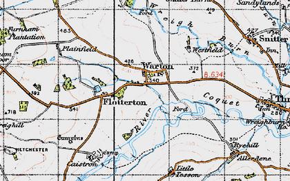 Old map of Wreighill Pike in 1947