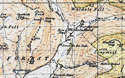 Old map of Yewbarrow in 1947