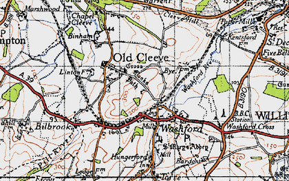 Old map of Washford in 1946