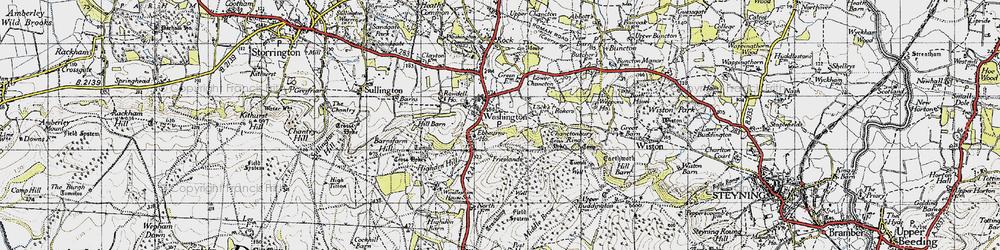 Old map of Windlesham (Sch) in 1940