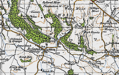 Old map of Tom Smith's Cross in 1947