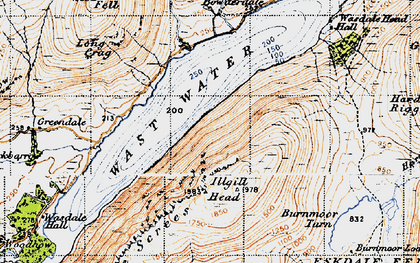 Old map of Whin Rigg in 1947