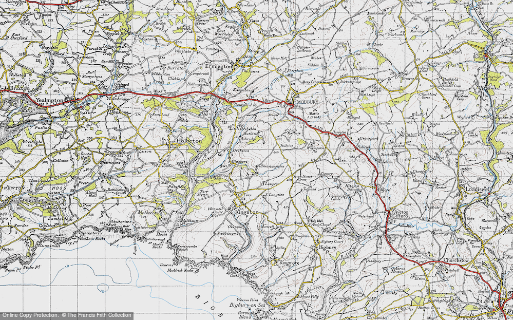 Old Map of Historic Map covering Langston in 1946