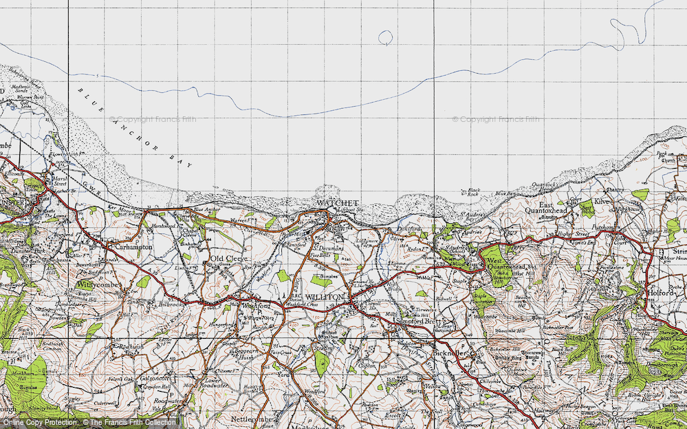 Old Map of Watchet, 1946 in 1946