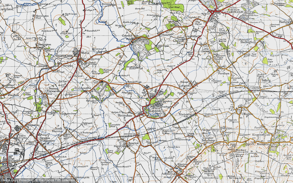 Old Map of Watchfield, 1947 in 1947
