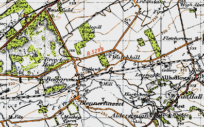 Old map of Aldersceugh in 1947